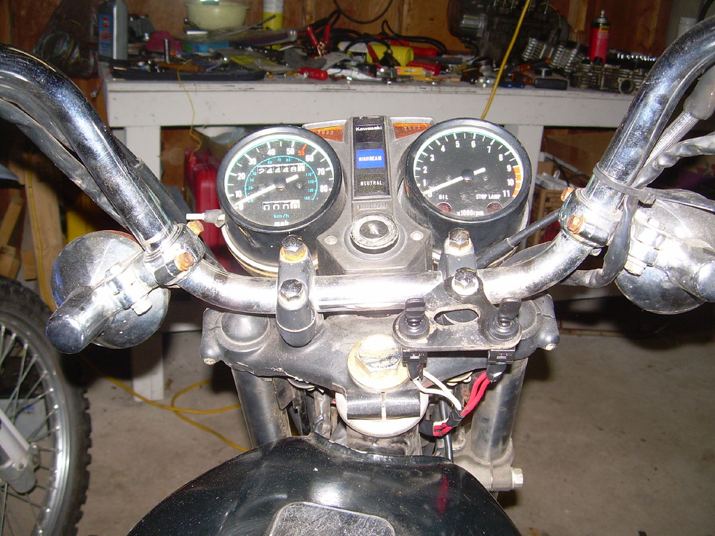 Simple Motorcycle Wiring Diagram For Choppers And Cafe Racers Evan Gl Break Sensor Or