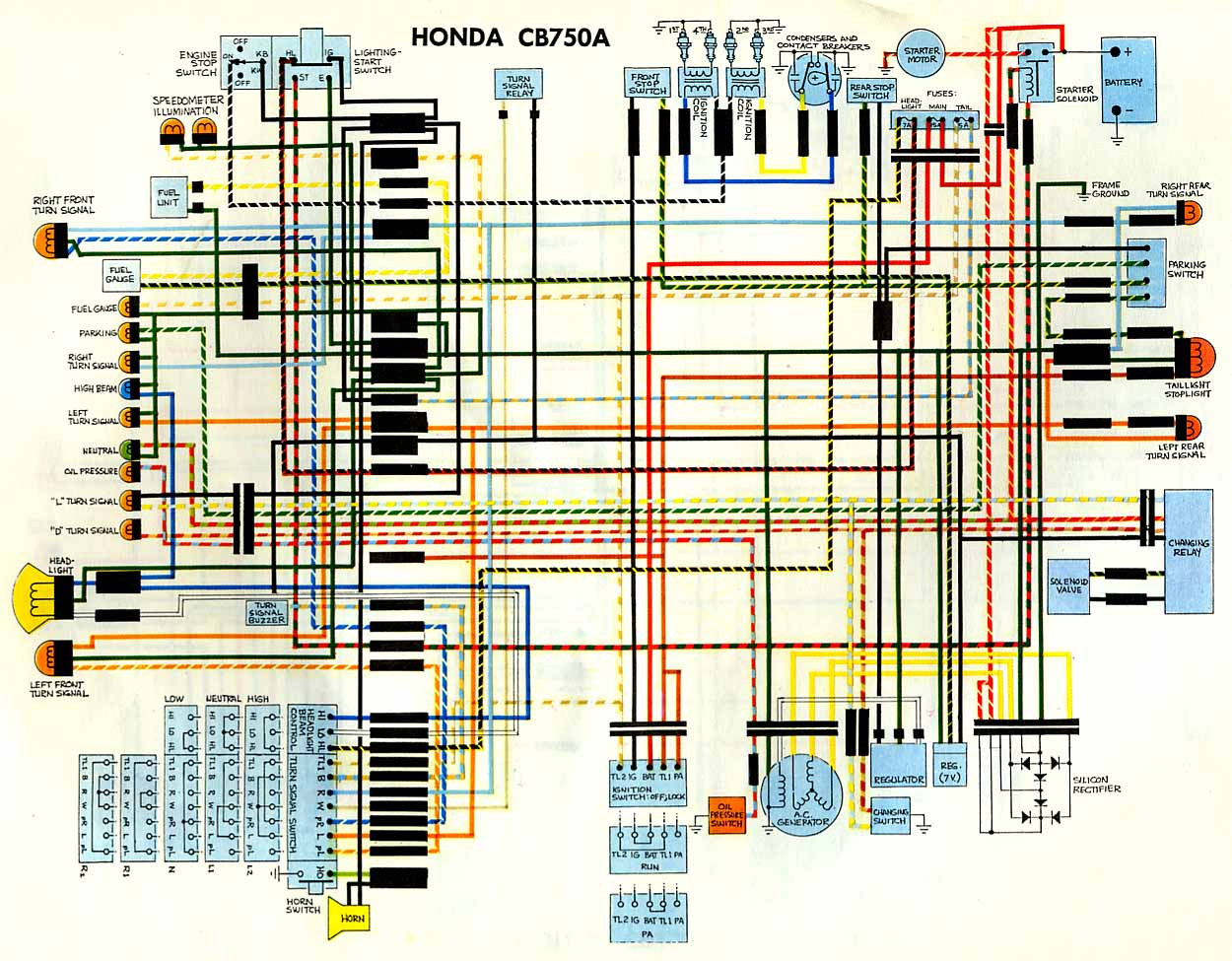 Honda Cb A Hondamatic Wiring Diagram