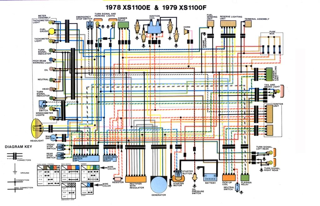 wiring diagram for yamaha xs1100 1978 1979 \u2013 evan fell Nissan Wiring Schematics