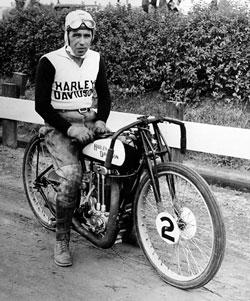 Joe Petrali Harley Davidson flat track