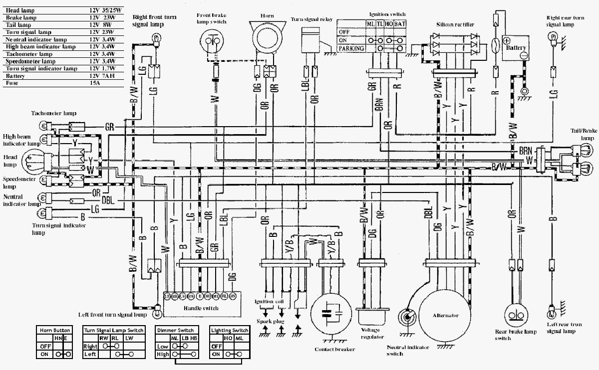 Motorcycle Wiring Diagrams on Yamaha Xs400 Wiring Diagram