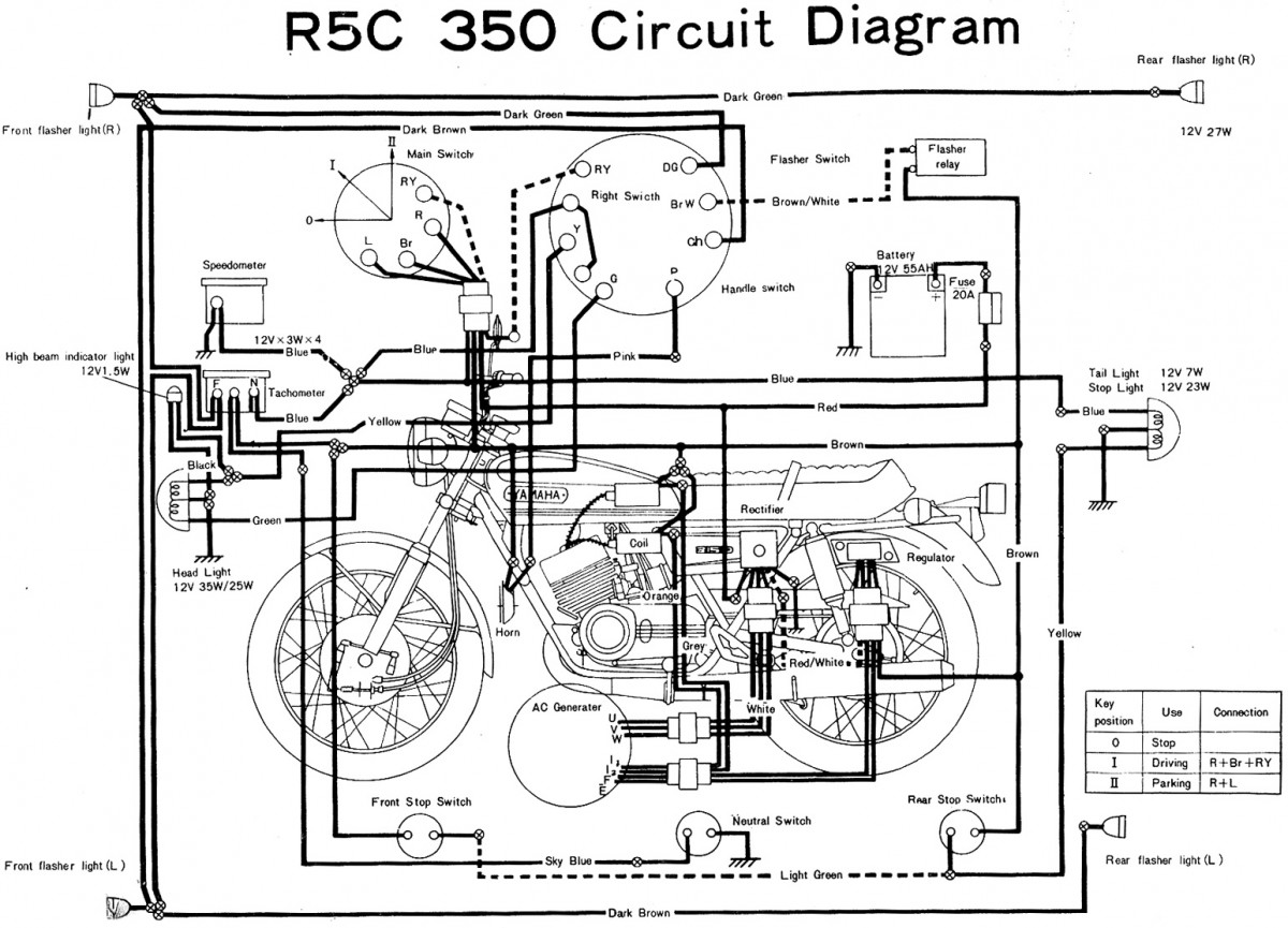Yamaha Motorcycles Electrical Diagrams Trusted Wiring 1954 Allstate Scooter Diagram Evan Fell Motorcycle Works Rh Cycles Evanfell Com Atv 2004